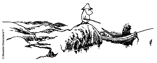 Moomin fishing lighthouse