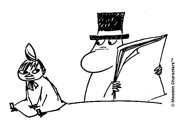 Moominpappa and Little My