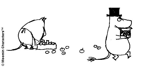 Moominpappa and apples