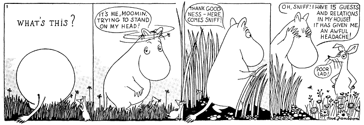 Moomin comic strip