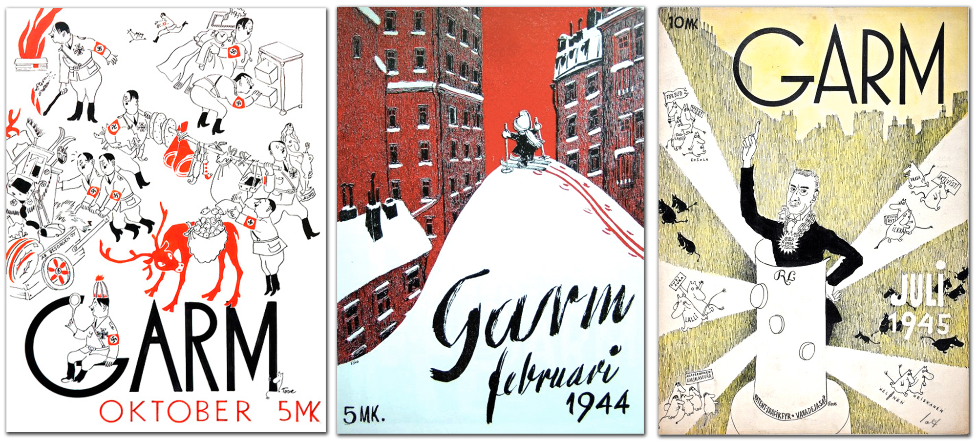 Garm Magazine Tove Jansson Three Covers 2