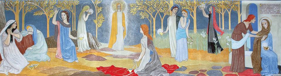 Eteläpohjalaisen Teuvan kirkon alttaritaulu Kymmenen neitsyttä (1954) on ainoa Tove Janssonin tekemä alttarimaalaus.