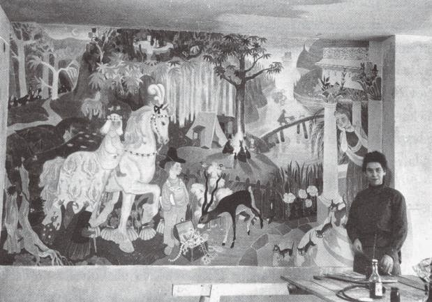 Tove Jansson_Mural_Kotka_Kindergarten3_1949