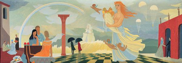 Tove-Jansson_Fantasia_1954_top_Kuva: Taidesäätiö Merita, Museokuva Matti Huuhka & Co.
