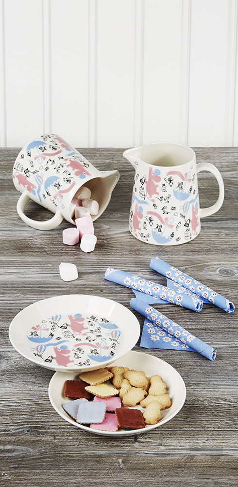 moomin pitcher and plate by Stockmann