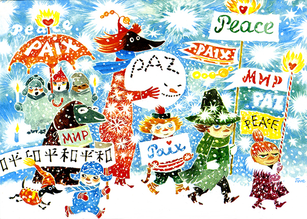 Tove Jansson for Unicef_March for peace_1981