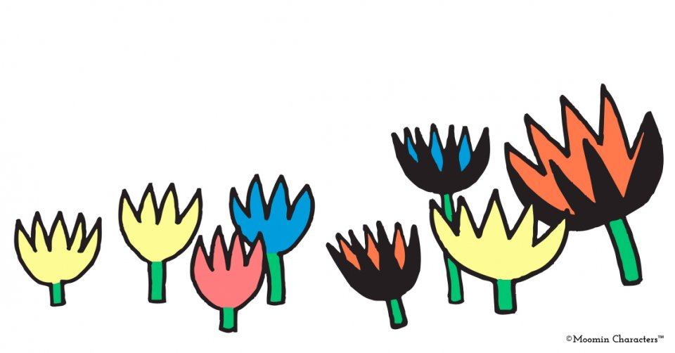 Moomin flower designs