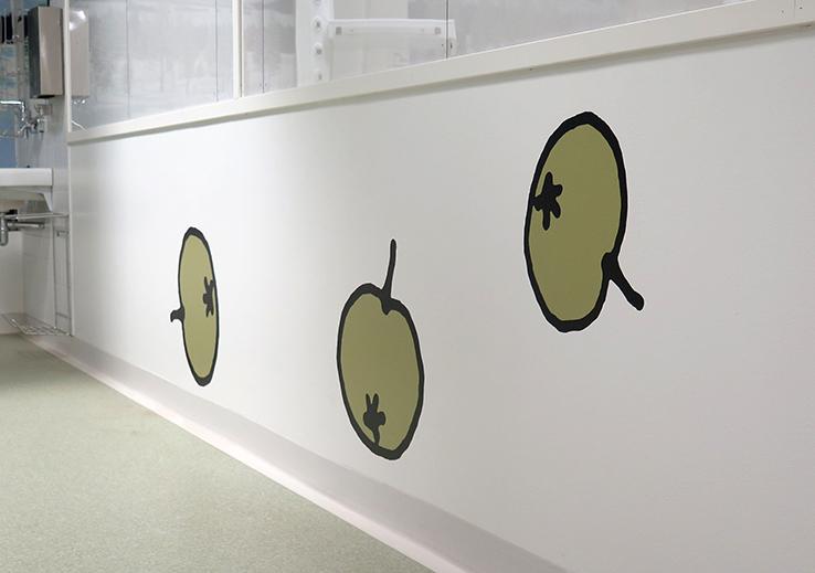 Uusi Lastensairaala Muumi teho-osasto omenat
