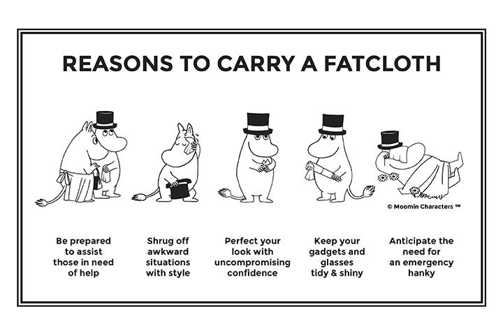 Moomin by FatCloth - pocket squares with original Moomin artwork