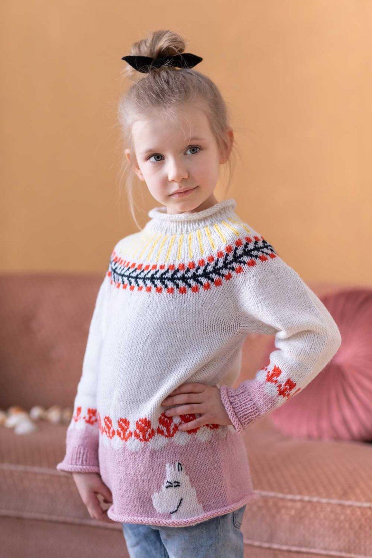 Moomin-x-Novita-Wool-Pullover-Moomintroll-Cute-