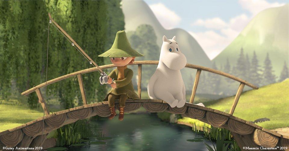 Moominvalley TV series Snufkin Moomintroll