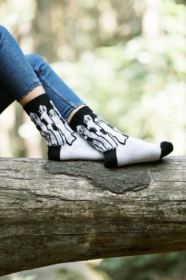 Moomin Hattifattener socks by Novita