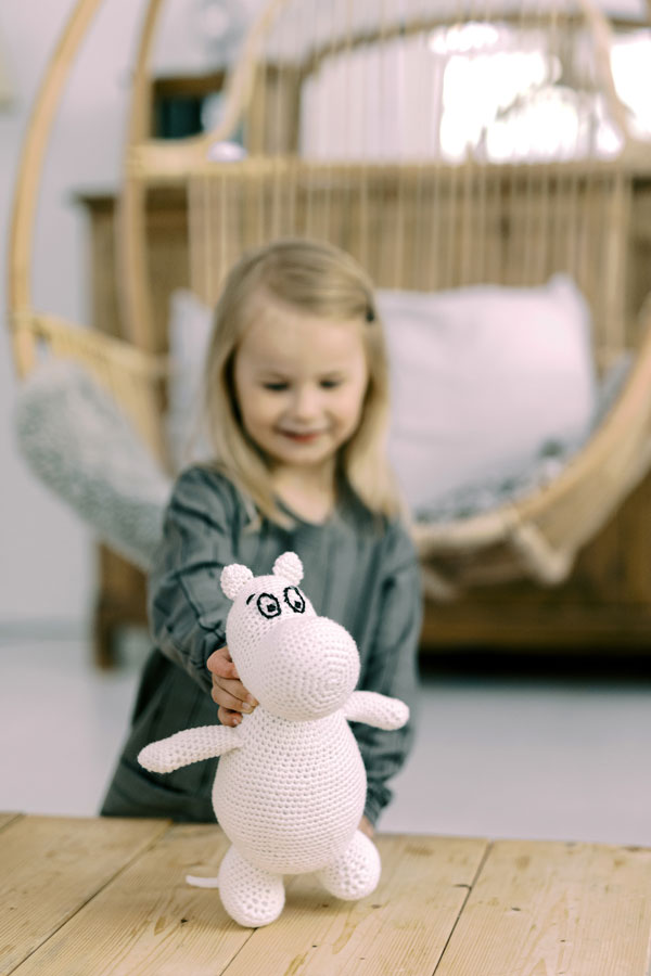 Moomin crochet figure by Novita