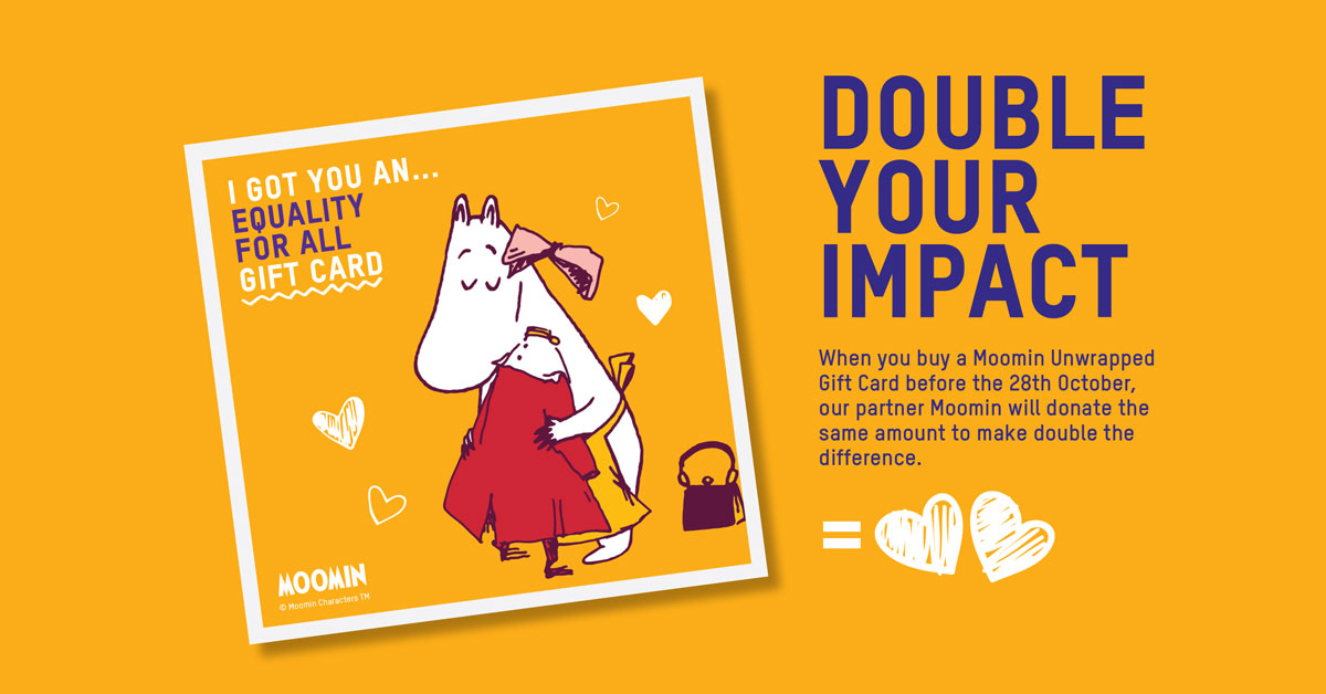 Moomin will match your donation
