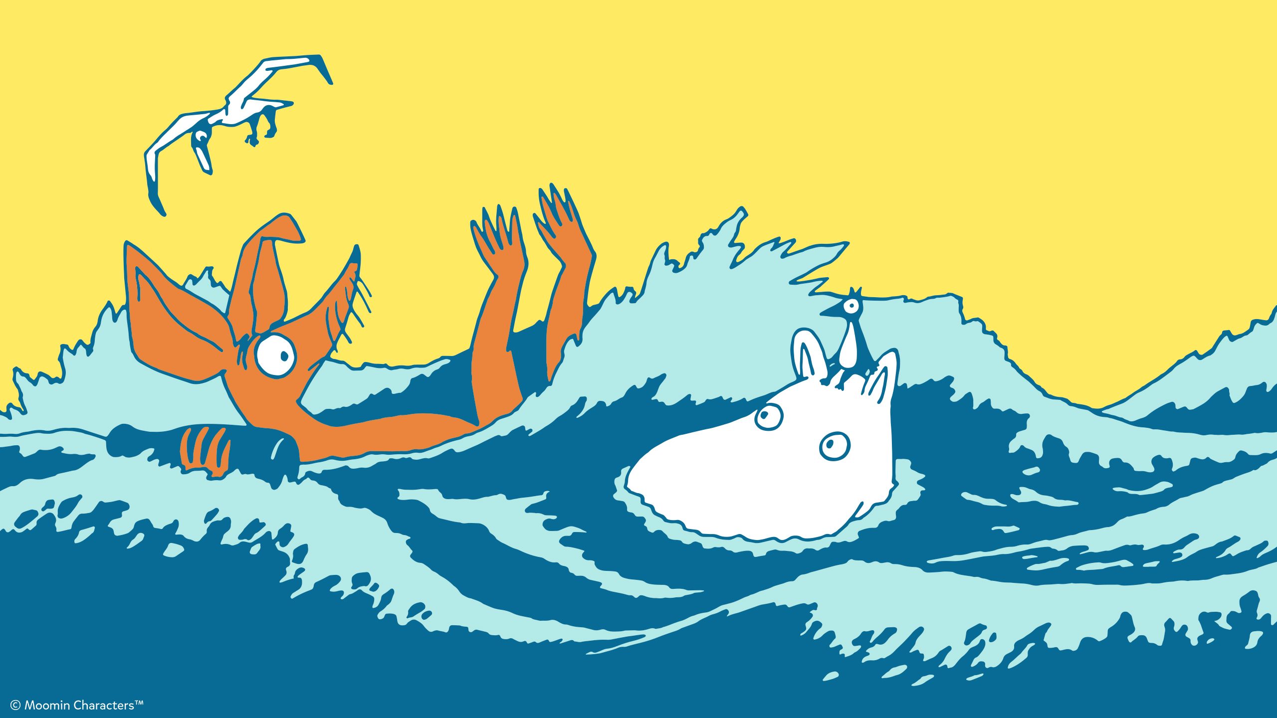 Show Your Support For Oursea With Free Moomin Wallpapers Moomin