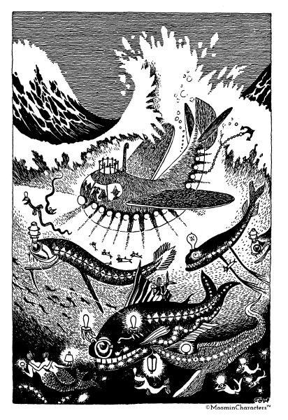 sea in Tove Jansson books
