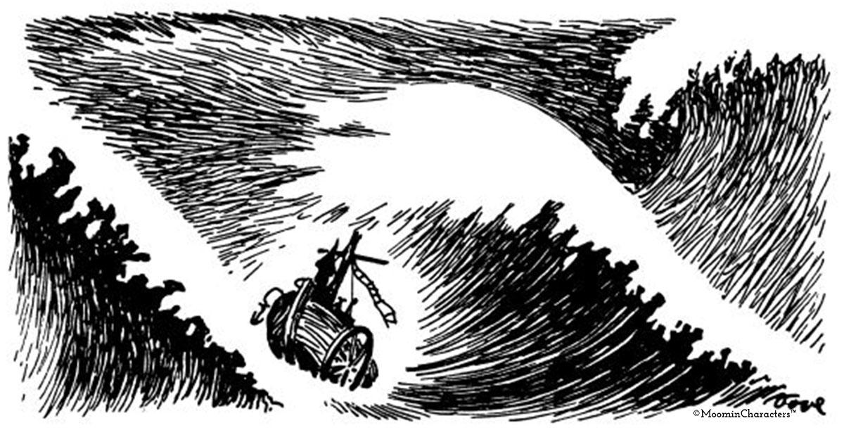 """Jag tycker nog mer om när det stormar"""" - Stormarnas mäktiga betydelse i  Tove Janssons liv och litteratur - Mumin"""