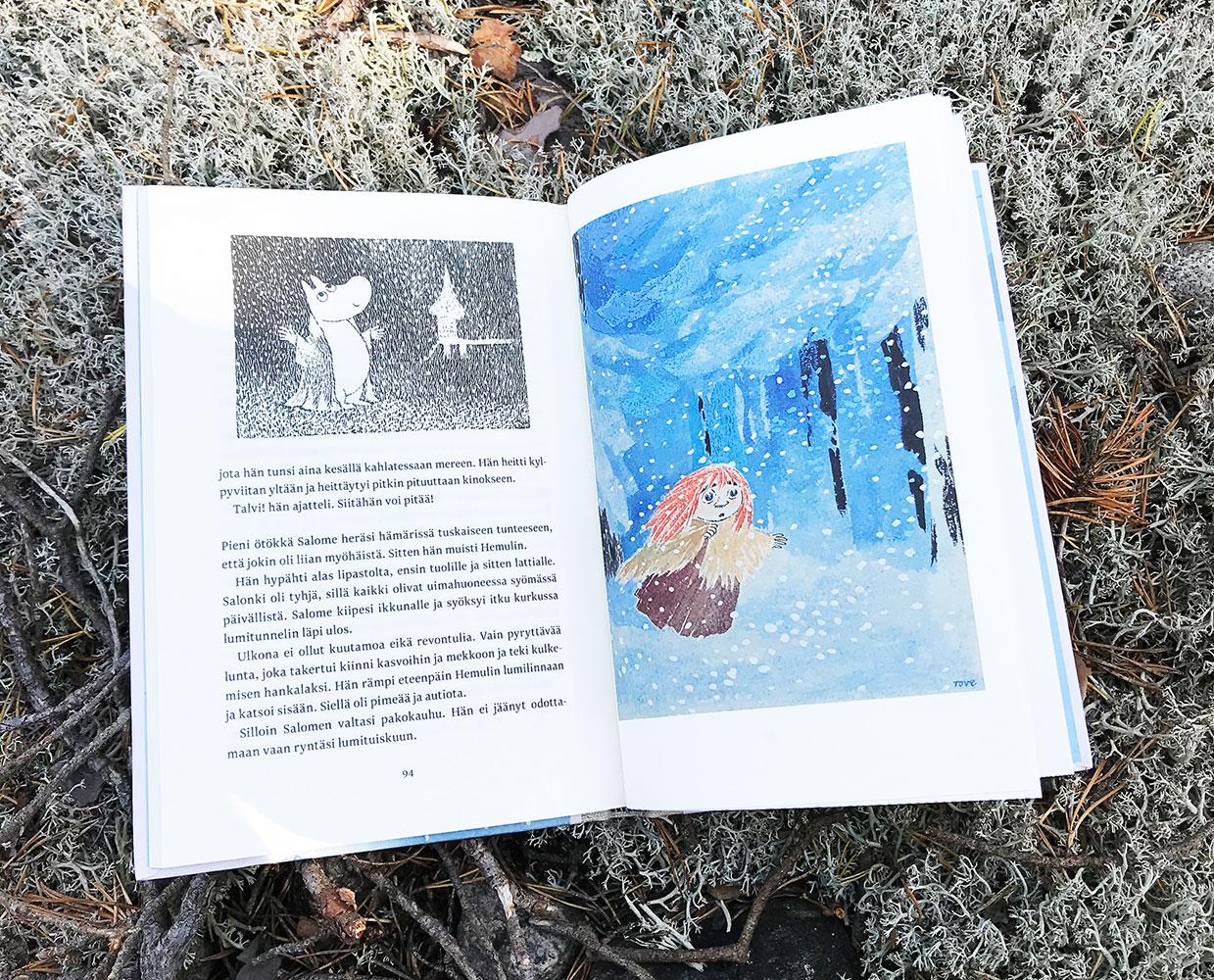 Taikatalvi Muumi-kirjan värikuvat
