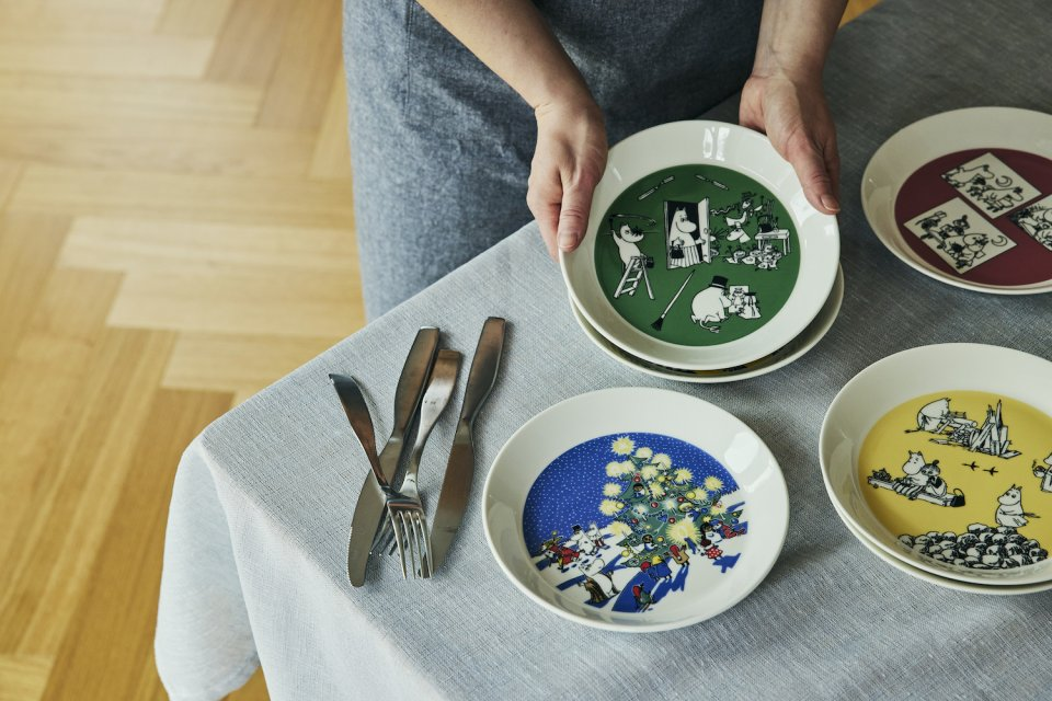 moomin collector's plates