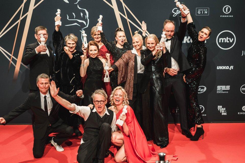Tove film crew at Finnish film awards Alma Pöysti